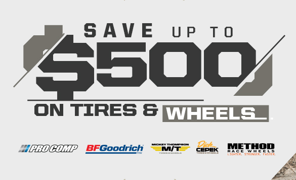 Save $500 on Tires and Wheels